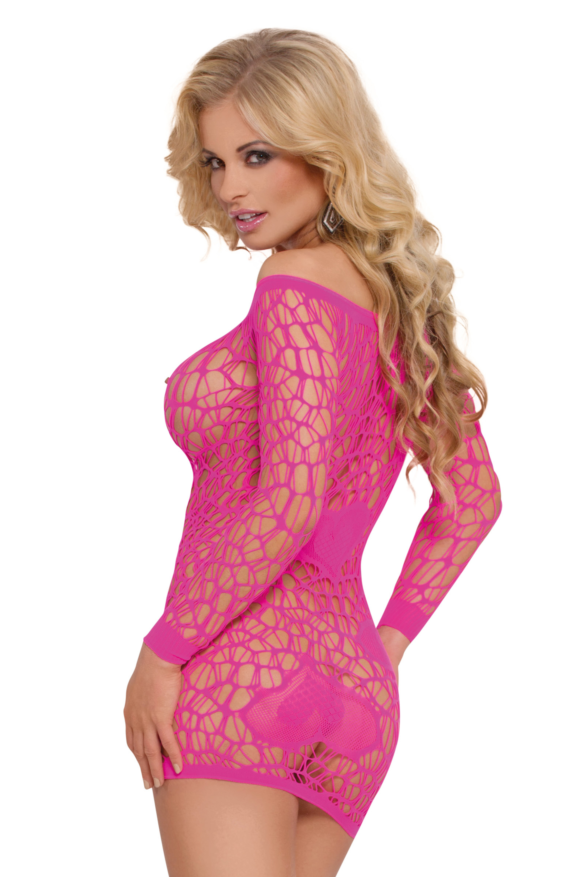 pinkes Netzkleid 6021 von Softline Bodystockings Collection ...