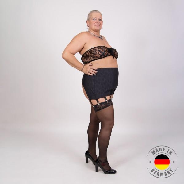 Jasmin – Bustier in Spitzenoptik schwarz