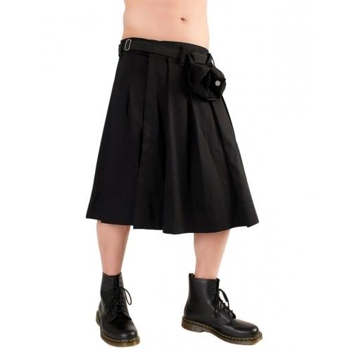 Black Pistol Short Kilt Denim (Schwarz)