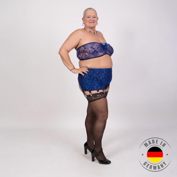 Jasmin – Bustier in Spitzenoptik blau