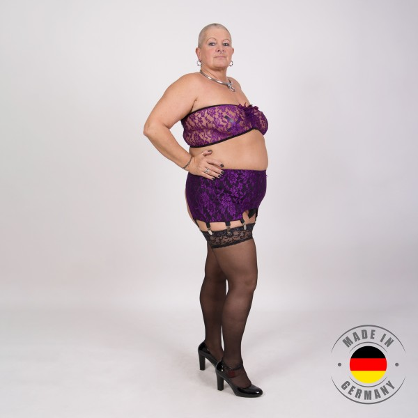 Jasmin – Bustier in Spitzenoptik lila