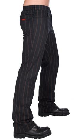 Aderlass Jeans Steampunk Pin Stripe (Schwarz Braun)