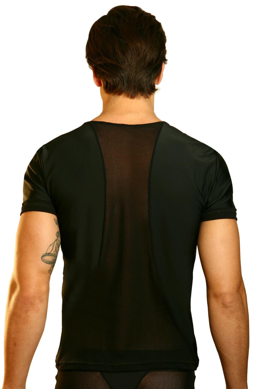 schwarzes herren t shirt open spirit von look me. Black Bedroom Furniture Sets. Home Design Ideas