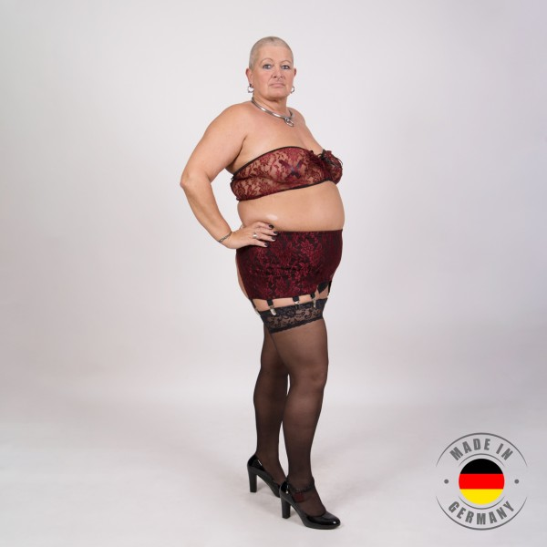 Jasmin – Bustier in Spitzenoptik bordeaux